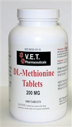 Dl Methionine 200mg Tablets L Urinary Acidifier For Pets