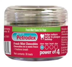 Petrodex Fresh Mint Chewables l Dental Treats To Reduce Tartar \u0026 Plaque  Pet Health Market